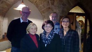 Olaf Döring, Vorsitzende Ingetraut Becker, Friedgard Poßögel, Horst Seyffarth, Beate Burghardt-Keil (v.l.n.r.)